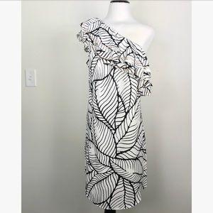 Apt 9 One Shoulder Dress, Tropical Pattern, Large